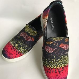 Nine West Slip On Canvas Shoes Multicolor  7 Med